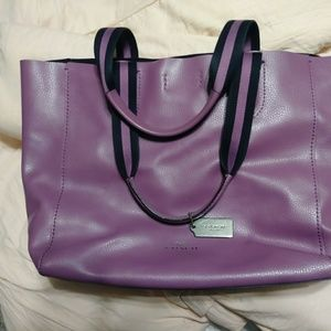 Purple Coach Derby Tote